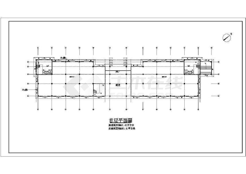 某地小型的娱乐城建筑图(共12张)-图3