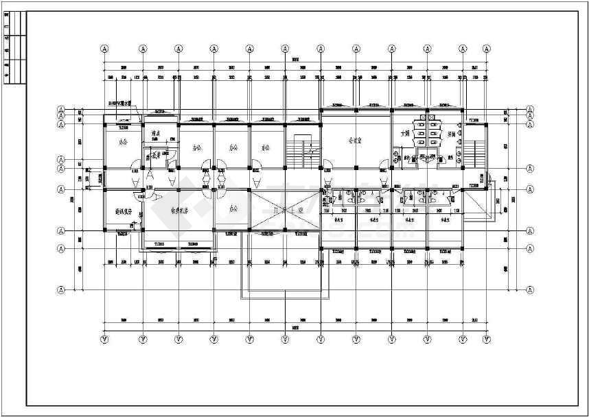 某地收费站建筑施工图(共13张)-图1