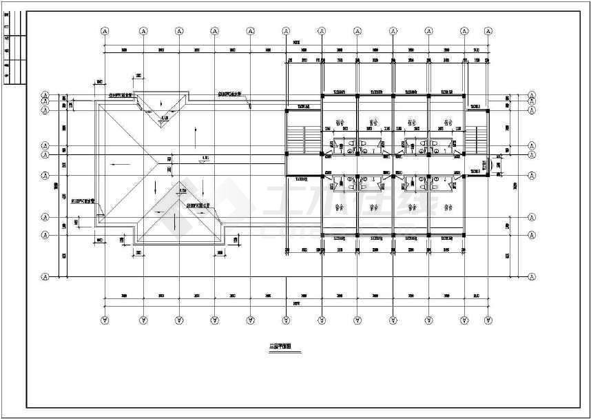 某地收费站建筑施工图(共13张)-图2