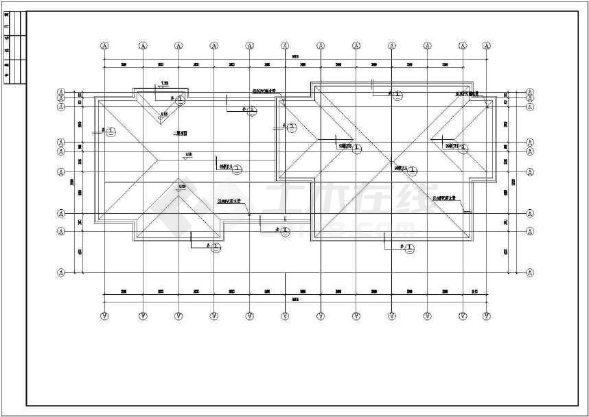 某地收费站建筑施工图(共13张)-图3