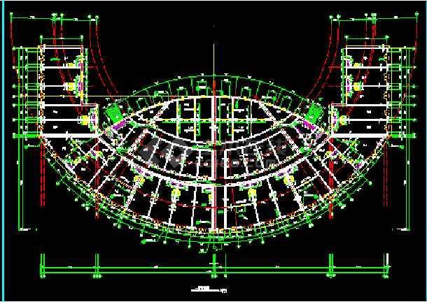 某广场舞台及网点建筑CAD施工设计图纸-图3