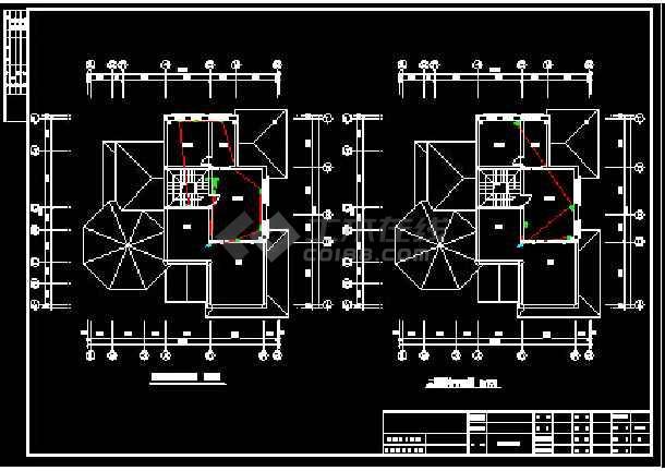 一整套别墅电气强弱电设计cad施工详图