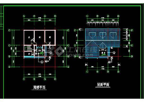 乡村别墅建筑方案施工设计全套CAD图纸-图1