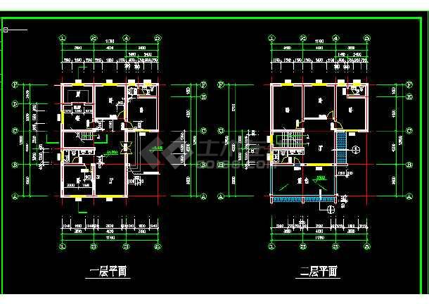 乡村别墅建筑方案施工设计全套CAD图纸-图2