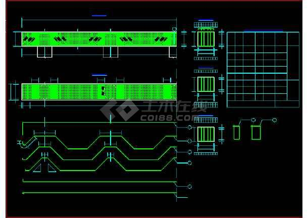 某地预应力空心板桥梁结构cad施工图纸-图1