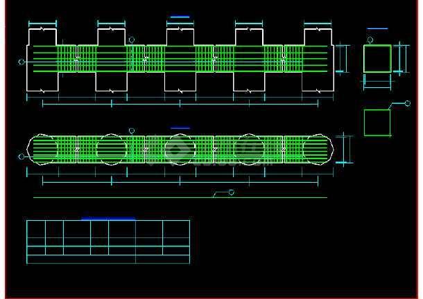 某地预应力空心板桥梁结构cad施工图纸-图3