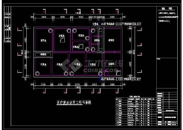 新建医疗污水处理站工艺图-图3