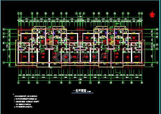 某市文化娱乐中心平面建筑CAD设计施工图-图2