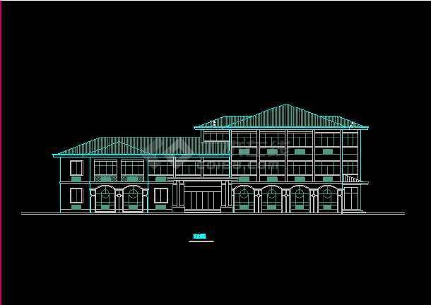 某收费站建筑CAD设计施工平面图纸-图1