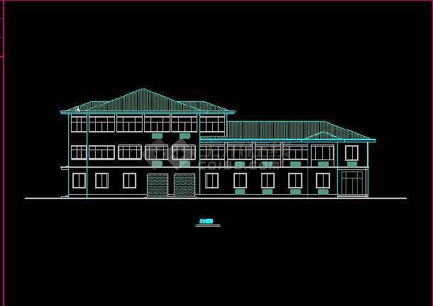 某收费站建筑CAD设计施工平面图纸-图2