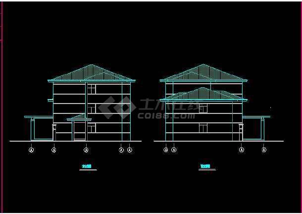 某收费站建筑CAD设计施工平面图纸-图3
