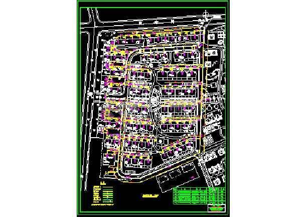 某地区大型住宅社区热力管网cad施工设计图