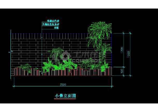 部分室内小造景观cad平面设计施工图-图1