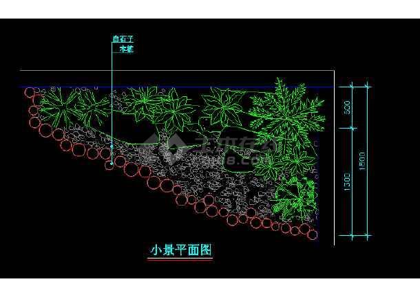 部分室内小造景观cad平面设计施工图-图2