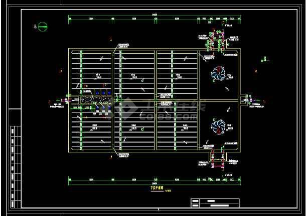 某污水厂生化池(A/O)工艺图-图1