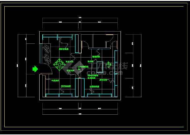 某商场服装店室内详细装修cad方案施工图