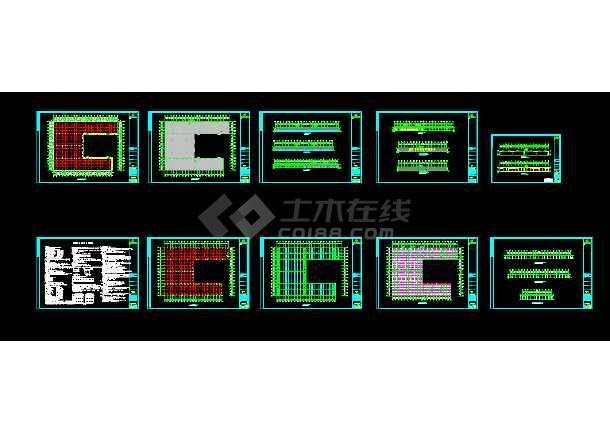 安微晨旺钢结构方案CAD工程设计图cad储物柜图立面图片