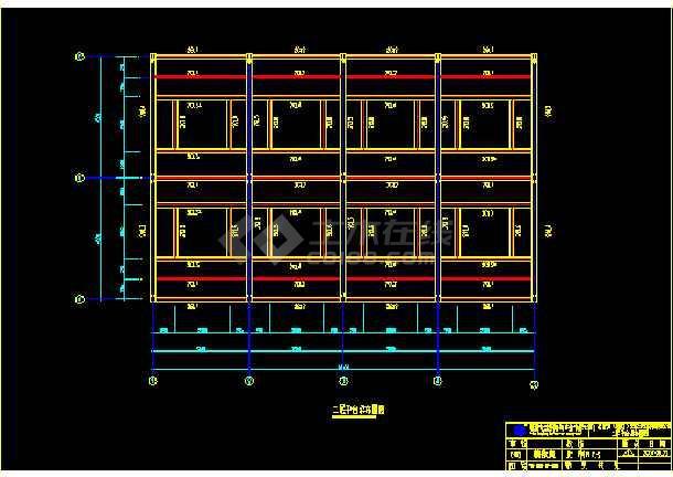 三层楼制造钢结构cad方案设计图