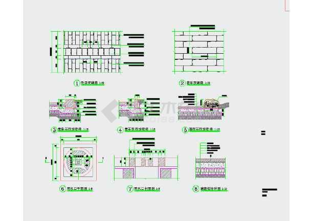 鹤城防城古街复原景观工程设计图纸-图1