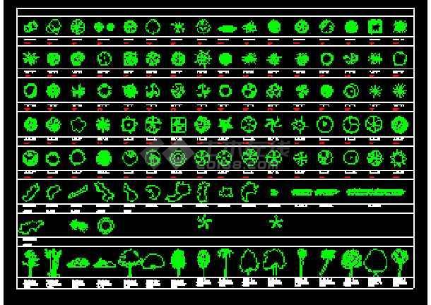部分室内装修植物设计素材cad图例-图3