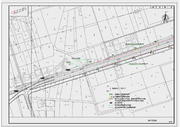 浙北市院横新线路灯改造工程施工图-图3