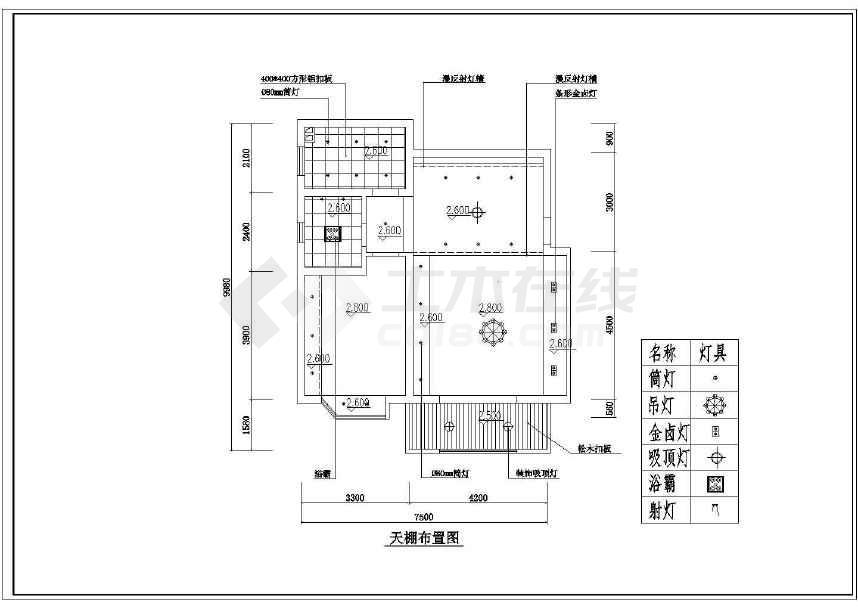 某地小户型装修设计方案(共9张)-图1