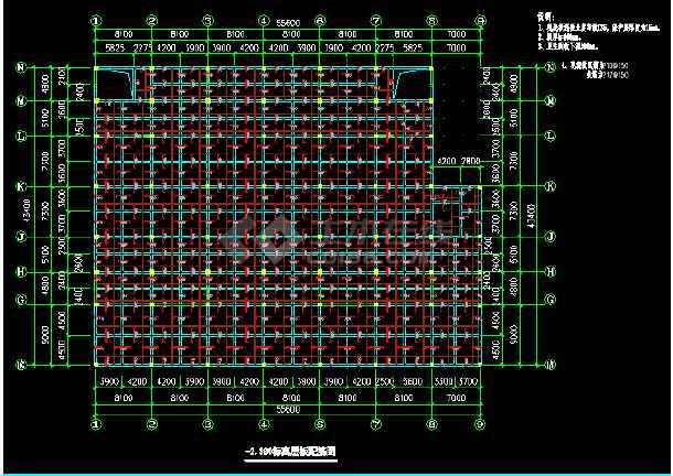 某建筑结构底框图纸cadv结构大楼110dt图纸分割器三维图片