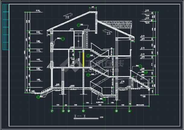南京某地欧式错层别墅CAD施工图-图3