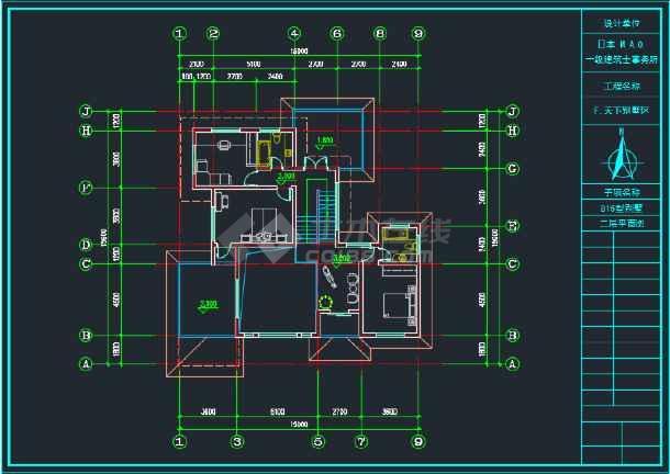 三层日式别墅全套建筑CAD施工图-图1