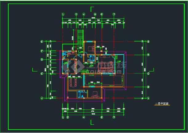 室内带游泳池的别墅建筑CAD施工图-图1