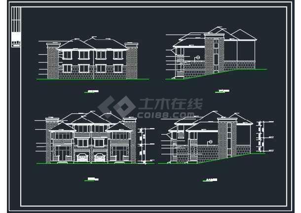 某地山体别墅全套建筑CAD施工图-图2