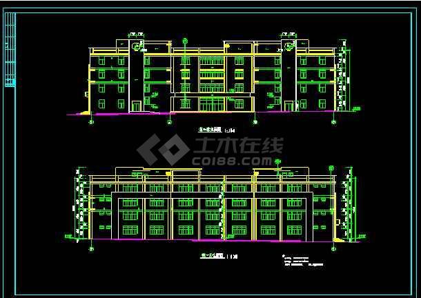 某四层厂房建筑的详细cad施工设计图-图3