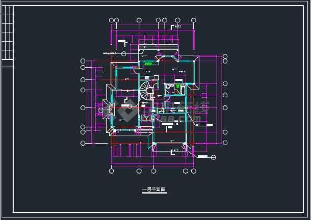 全套上海绿洲某别墅建筑CAD施工图-图1