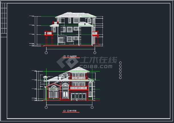全套上海绿洲某别墅建筑CAD施工图-图3
