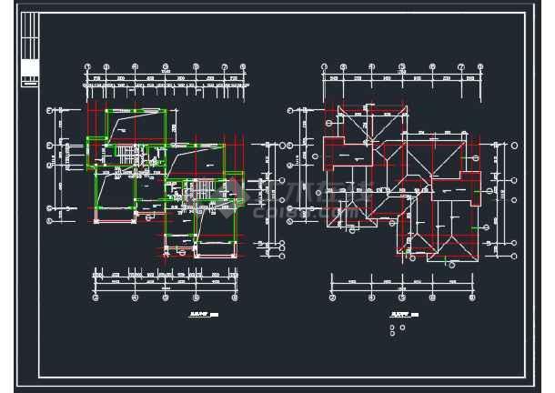 山体别墅北入口全套建筑CAD施工图-图2