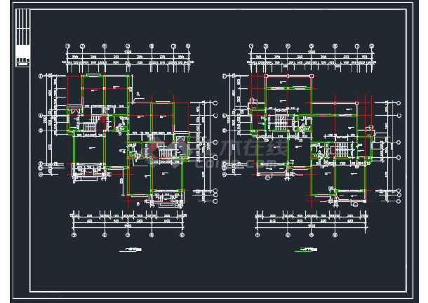 山体别墅北入口全套建筑CAD施工图-图3