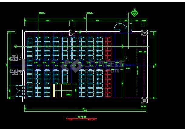 保利国际电影院装饰CAD建筑工程设计图纸-图1