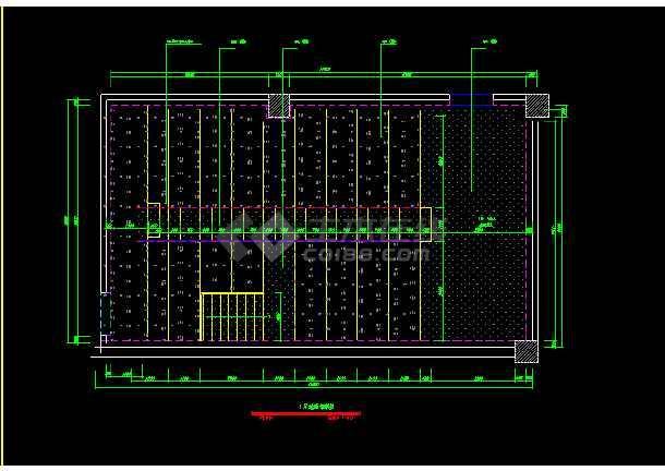 保利国际电影院装饰CAD建筑工程设计图纸-图2