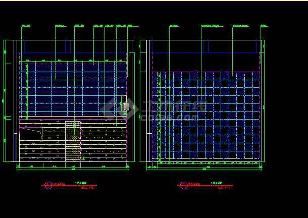 保利国际电影院装饰CAD建筑工程设计图纸-图3