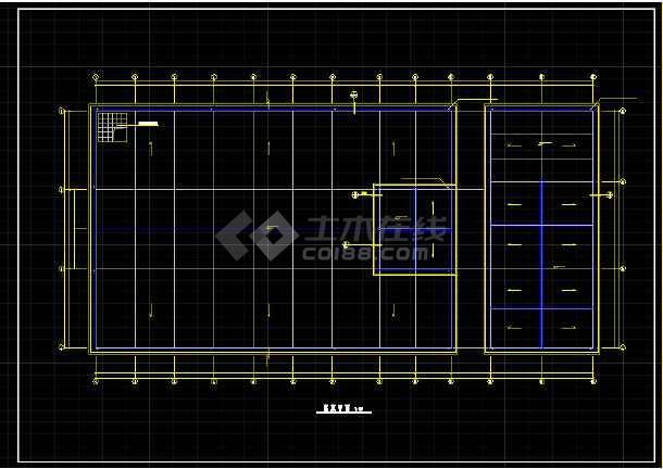 某大型冷库全套建筑设计CAD施工图-图2