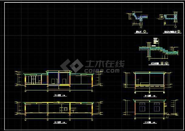 某大型冷库全套建筑设计CAD施工图-图3