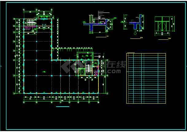 某四层车间翻建楼全套建筑设计方案图-图2