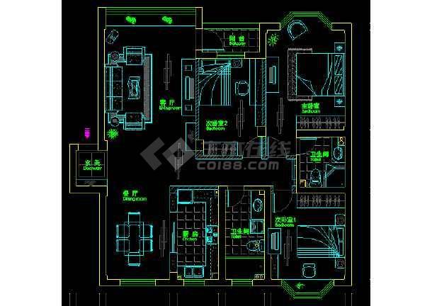 某四室图纸室内装修平面cad住宅v图纸图纸全套摩托车人两改装图片