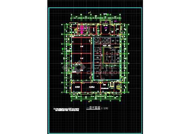 某大型医药厂房全套建筑设计施工图-图1