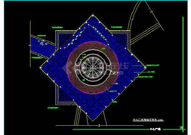 雕塑、休闲、城市广场建筑CAD设计施工图-图2
