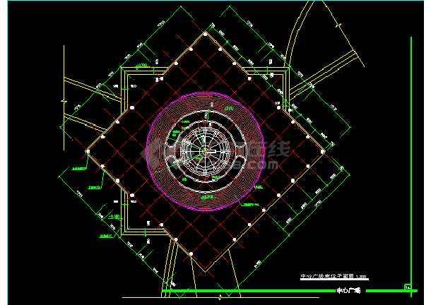 雕塑、休闲、城市广场建筑CAD设计施工图-图3
