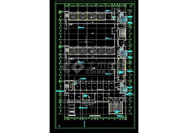 开发区小学暖通工程施工CAD图-图1