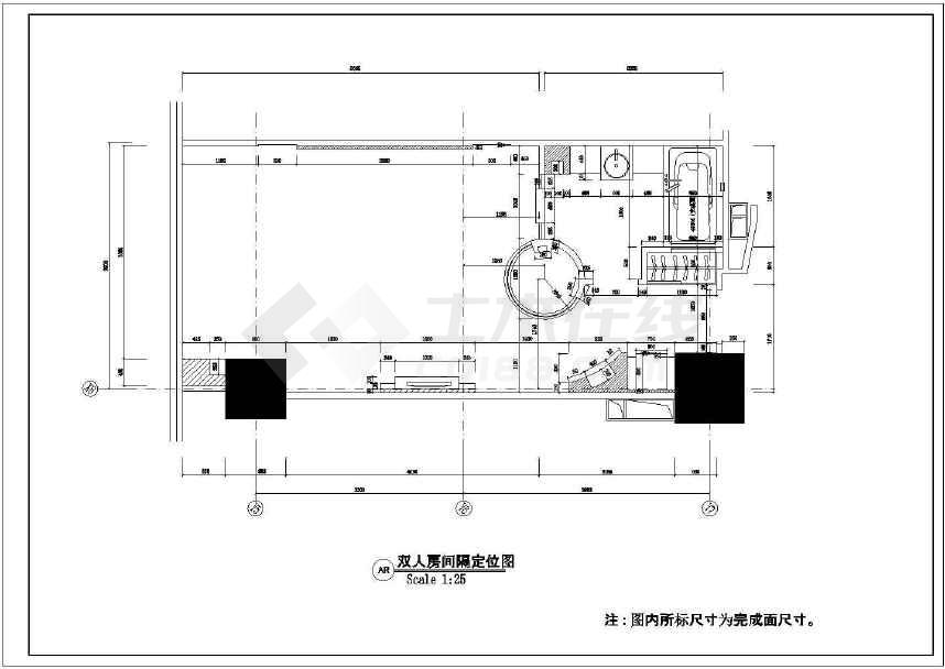 具有特色的双人房间精装装修设计图-图1