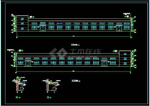 某三层车间厂房全套建筑设计方案图-图2