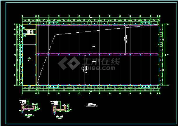 某三层车间厂房全套建筑设计方案图-图3